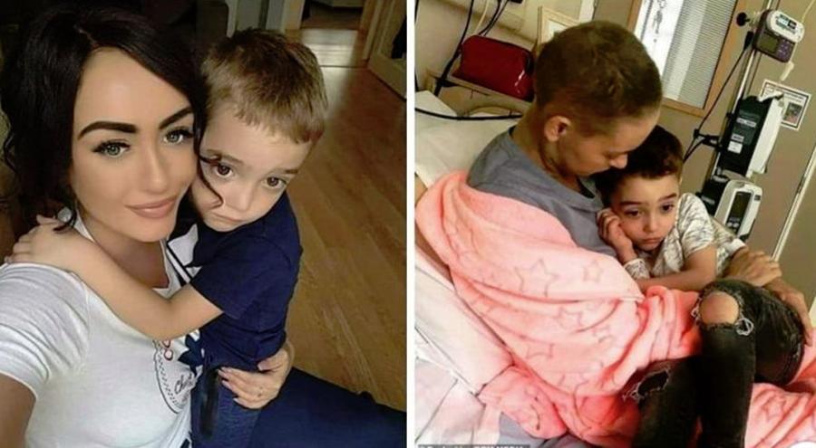 """Momentul sfâșietor când o mamă îi spune băiețelului ei că """"mami o să moară"""". Femeia de 26 de ani suferă de cancer în fază terminală"""