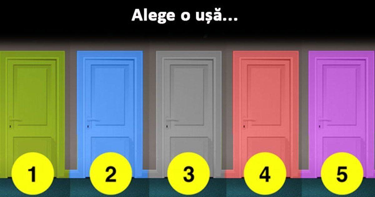 Alege o ușă si vezi ce cale trebuie sa urmezi. Un test interesant pe care trebuie sa-l aflați