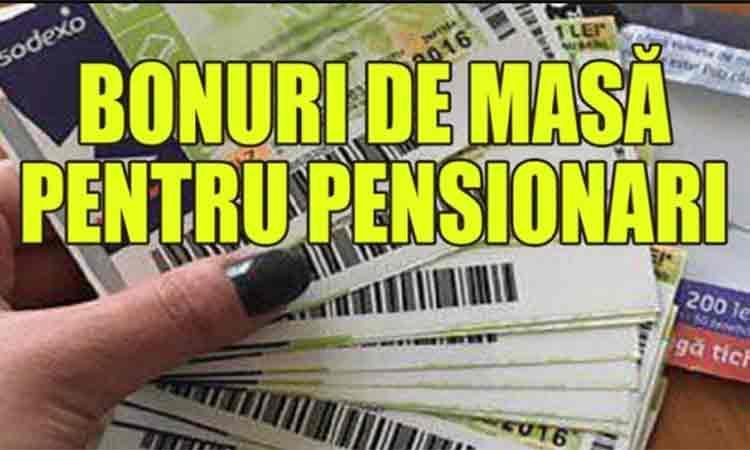 Veste buna! Bonuri de masa pentru 4,5 milioane de pensionari.