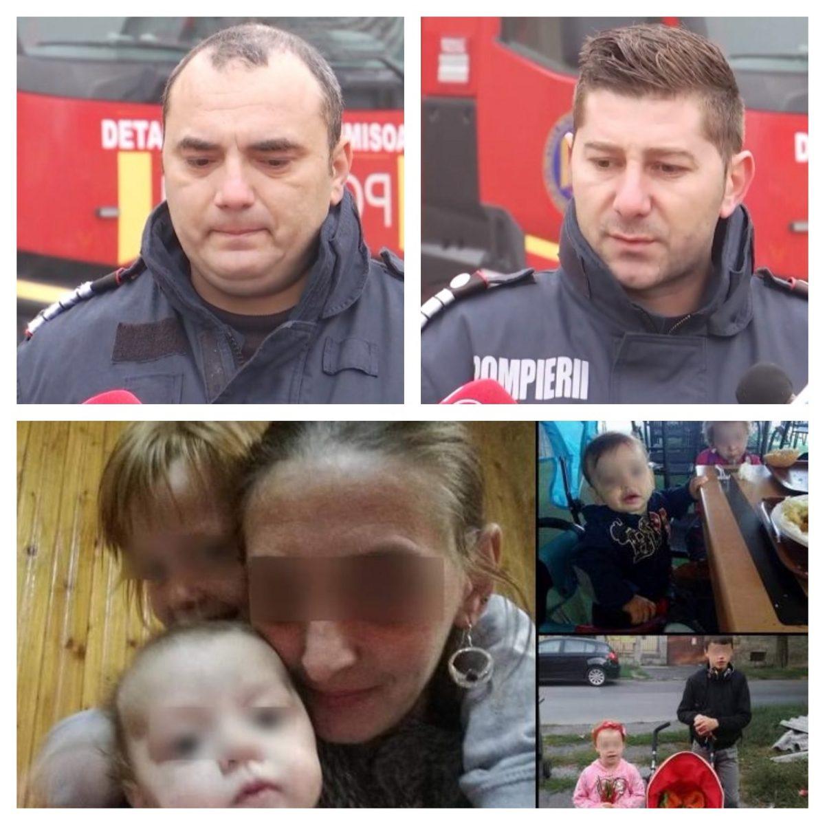 """Pompierii care i-au găsit pe cei patru fraţi arşi în casă, la Timişoara, mărturii tulburătoare: """"Speram să-i găsim în viaţă"""""""