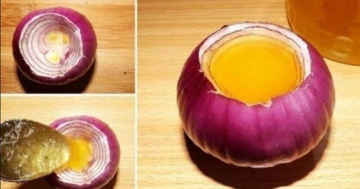 A scobit o ceapa rosie a umplut-o cu miere de albine apoi a lasat-o la macerat 8 ore. Dupa ce vei afla motivul vei face si tu la fel!