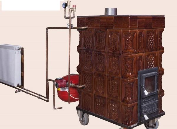 Eficiență și economie pe timp de iarnă cu centrala termică în soba de teracotă.
