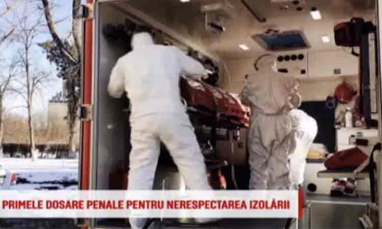 Primele persoane din Romania cu dosar penal pentru ca nu au respectat regulile de izolare privind coronavirusul.