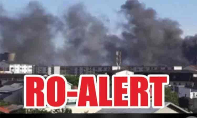Alerta Extrema: Ocoliti zona, degajari masive de fum