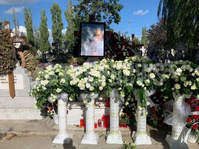 Primele imagini cu mormântul lui Nelu Stoian! Fratele lui Florin Salam a fost îngropat astăzi